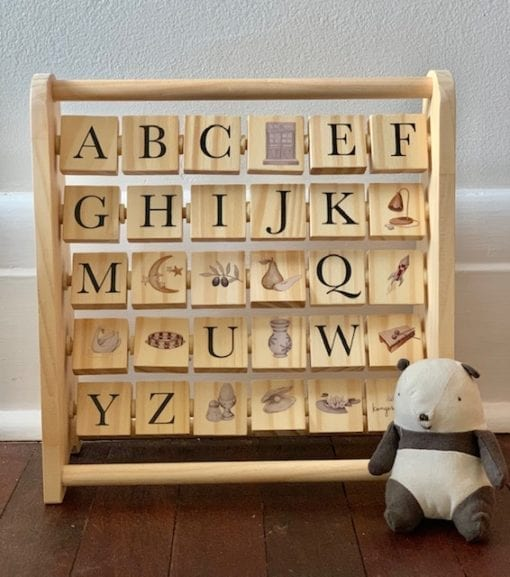 ABC Wooden Block Frame Little French Heart