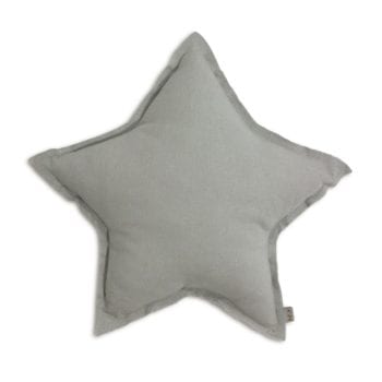 Numero 74 Silver Grey Star Cushion Little French Heart