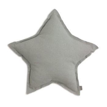 Numero 74 Silver Grey Star Cushion Little French Heart