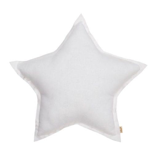 Numero 74 Silver White Star Cushion Little French Heart
