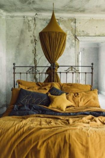 Numero 74 gold star cushion bedroom decor