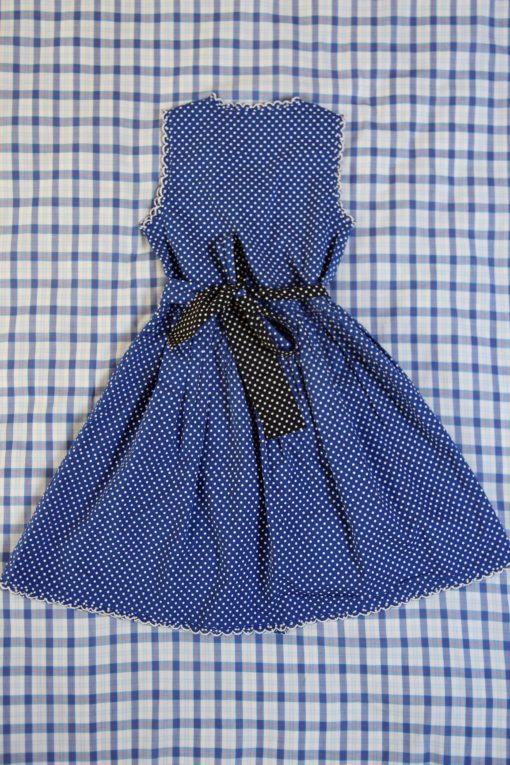 Bonjour Diary Reverisible Wrap Dress Blue Dot