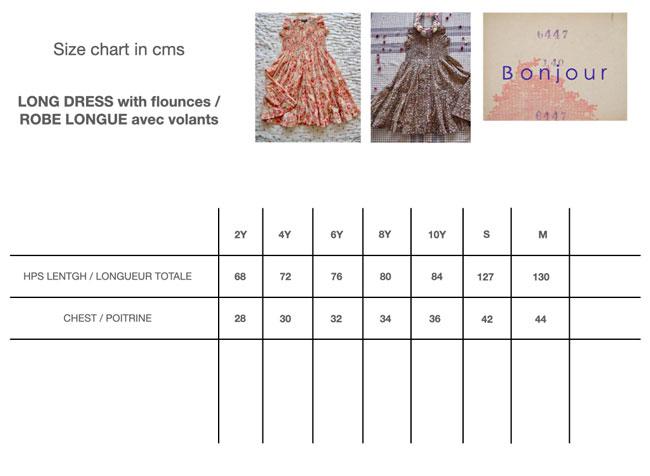 Ibiza Dress Size Chart