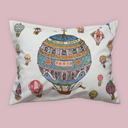 Atelier Choux Velour Cushion Hot Air Balloon
