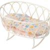 Maileg Cradle with sleeping bag Micro white
