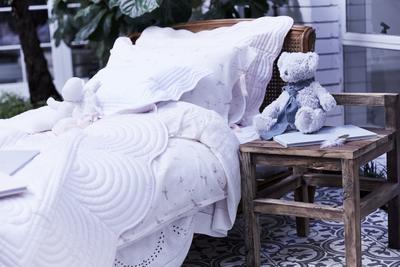 Bonne Mere Single Bedspread Quilt and Pillow Set - Powder
