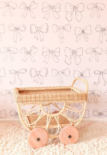 Junimoon Tallulah Kids Rattan Tea Cart