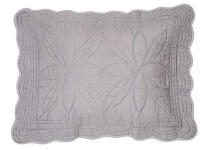 Bonne Mere Single Bedspread Quilt and Pillow Set - Elephant Grey
