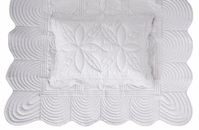 Bonne Mere Single Bedspread Quilt and Pillow Set - Dove