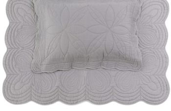Bonne Mere Single Bedspread Quilt and Pillow Set - Elephant Grey
