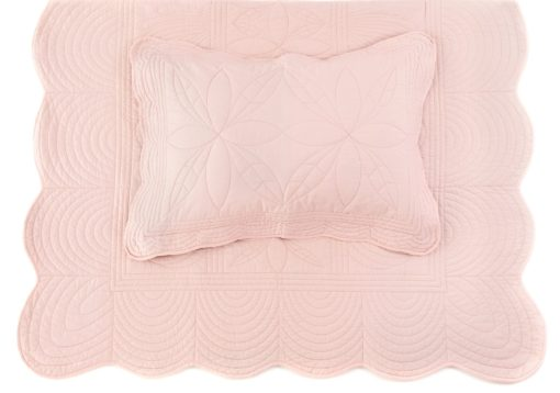 Single-bed-pillow-quilt-set-girl-shell-pink-bonne-mere