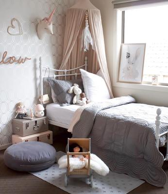 Bonne Mere Single Bedspread Quilt and Pillow Set Elephant Grey