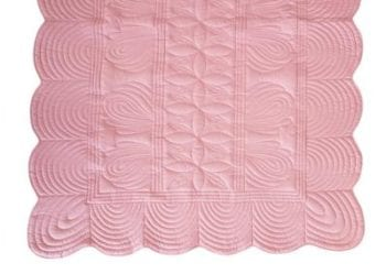Bonne Mere Single Bedspread Quilt and Pillow Set - Rose