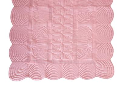 Bonne Mere Single Bedspread Quilt and Pillow Set - Rose