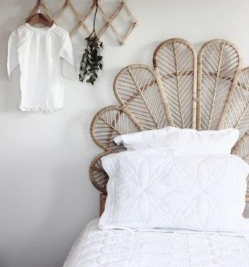 Little French Heart Single-white-bed-quilt-girl-kids-bedding-bonne-mere_
