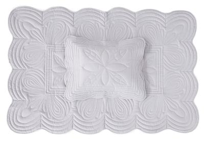 Bonne Mere Cot Quilt and Pillow Set - Dove