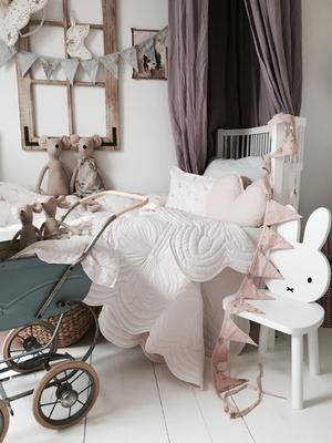Bonne Mere Cot Quilt and Pillow Set - Powder