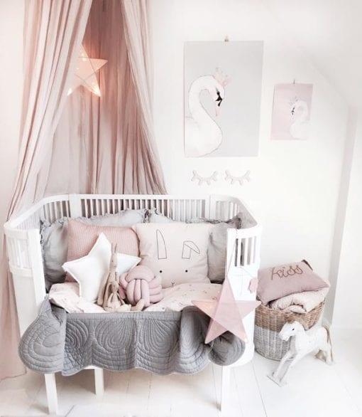 Bonne Mere Cot Quilt and Pillow Set - Elephant Grey