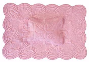 Bonne Mere Cot Quilt and Pillow Set Rose