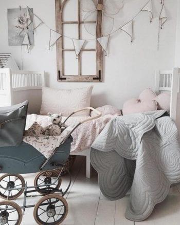 Cot Quilt and Pillow Set - Mist