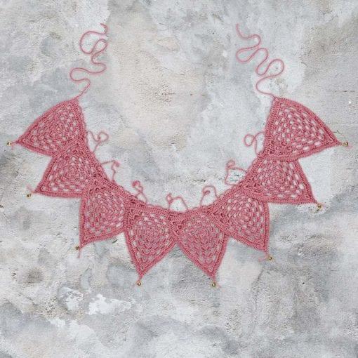 Numero 74 Bunting Garland Crochet Baobab Rose