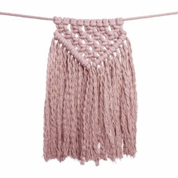 Numero 74 Bunting Garland Macrame Dusty Pink