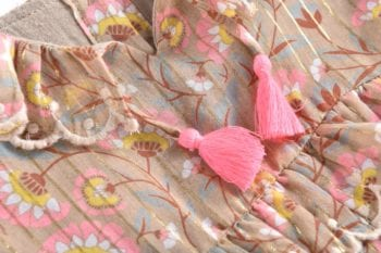 Girls-Dress-Eforie-KhakiFolkFlowers-Little French Heart cloth