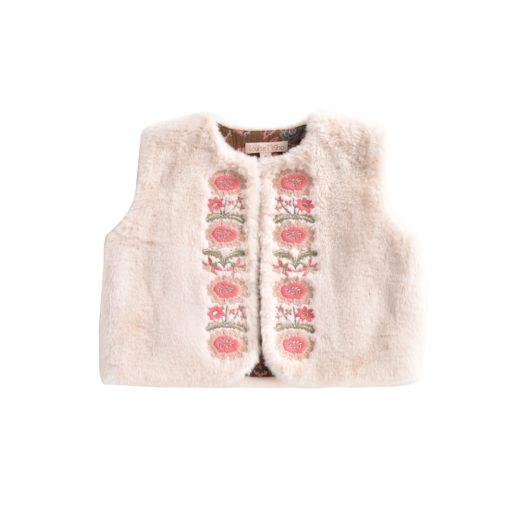 Louise Misha Bianca Vest Cream