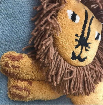 Lion Wall Hanging Little French Heart