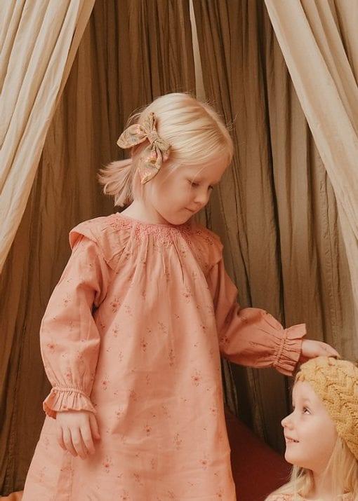Louise Misha Hair Clip Gila Khaki Folk Flowers