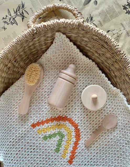 Olli Ella Dinkum Doll Accessories Set with Rattan Channge Basket