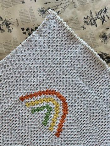 Olli Ella Rainbow Blanket Reverse