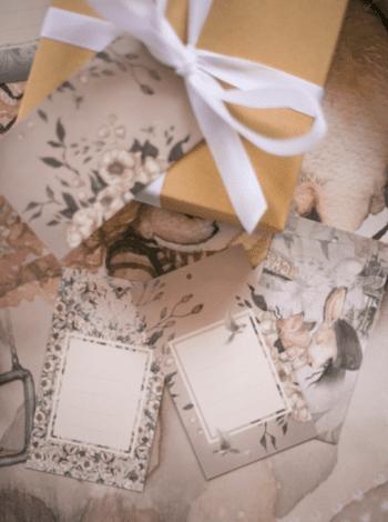 Mrs Mighetto Gift Tags Flowers & Tivoli