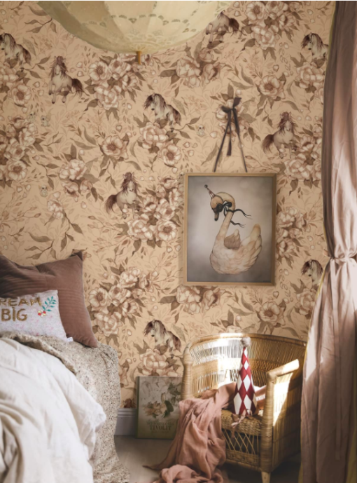 Mrs Mighetto's Dolls House Wallpaper | Ponies For Hollie