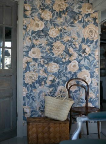Dolls House Wallpaper | Dusty Blue