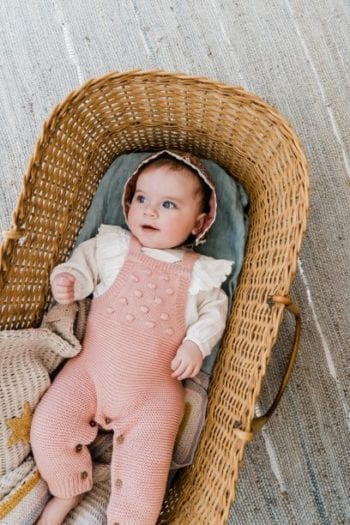 Louise Misha Baby Girl Overalls Bubble Gum Little French Heart
