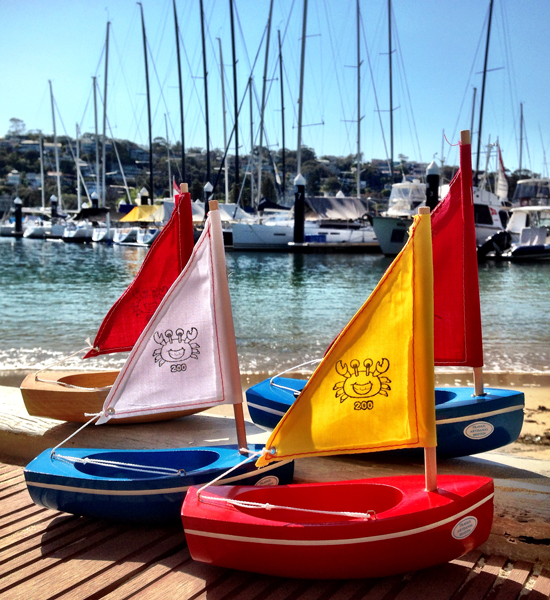 Wooden Toy Boats Little French Heart