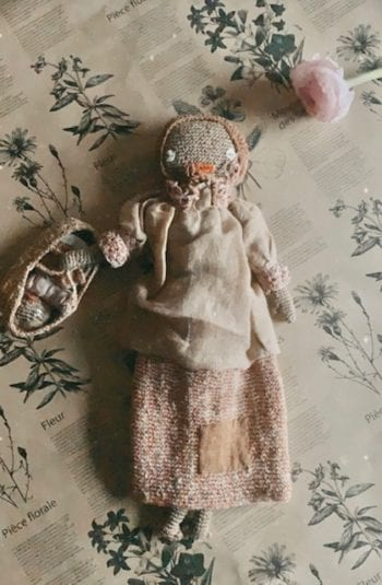 Sophie Digard Mother and Bebe Knit Doll