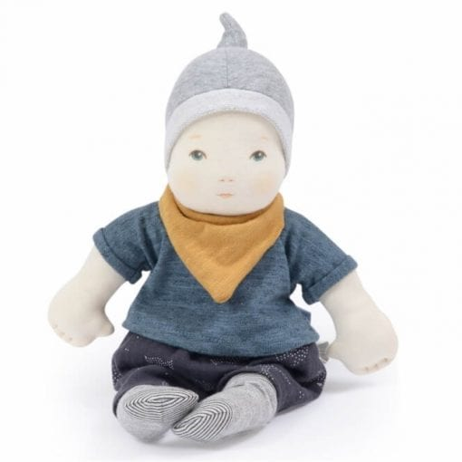 Les Bebes Baby Boy Doll Moulin Roty