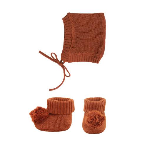 The Olli Ella Dinkum Doll Knit Set - Umber
