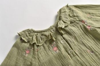 Louise Misha Blouse Khaki Flowers Resized