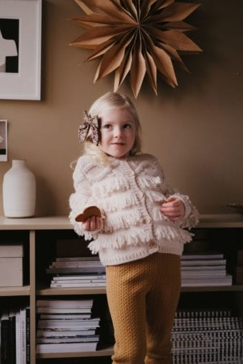 Louise Misha Cardigan Loket Cream Little French Heart