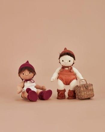 The Olli Ella Dinkum Doll Knit Set - Plum