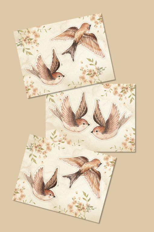 Mrs Mighetto Paper Friends Sparrows