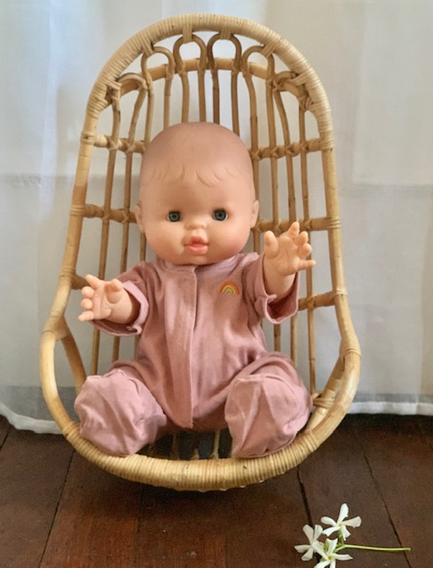 Paola Reina Gordis Bella Caucasion Baby Doll with Blush Pajamas Little French Heart