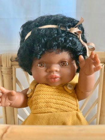 Paola Reina Gordis Doll Faith Close Little French Heart Bassinet