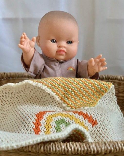 Paola Reina Gordis Eva Asian Baby Doll with Blanket