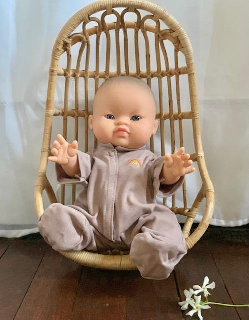 Paola Reina Gordis Eva Asian Baby Doll with Lilac Pajamas