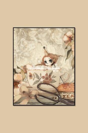 Mrs Mighetto The Tea Bath 40 x 50