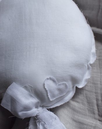 Balloon Cushions Cloud White Little French Heart